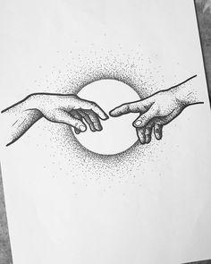Dotted Drawings, Cool Art Drawings, Pencil Art Drawings, Art Drawings Sketches, Drawing Ideas, Tattoo Sketches, Drawing Art, Sketch Ideas, Tattoo Drawings