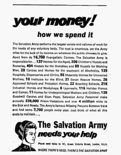 Salvation Army. November 26, 1964