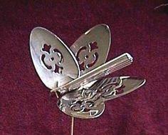 Spoons: butterfly garden art