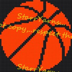 Looking for your next project? You're going to love Basketball throw pillow graph pattern by designer Elzbthstarr.