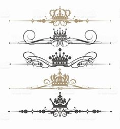 gothic calligraphic design elements and page decoration vector set royalty-free stock vector art