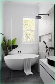 Simple Ways To Beautify Your Bathroom With Modern Bathroom Vanities. If you are tired with all the traditional bathroom build, you definitely need to ... Modern Bathroom Design, Simple Bathroom, Bathroom Interior Design, Bathroom Ideas, Bathroom Organization, Bathroom Designs, Bathroom Updates, Minimal Bathroom, Shower Bathroom