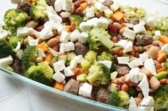 Bonenschotel met broccoli en mozzarella - Mind Your Feed
