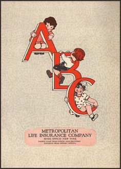"""1920's Advertising/Health Ephemera.  Illustrated in typical 1920's style in b&w by M.C. Phares. """"C is for Cough And its Cousin, the sneeze. Cover them both with your handkerchief please."""" This copy is complete with an insert that has a full color copy of the line illustration that accompanies the letter """"U"""". The child is meant to use this as a guide for coloring the illustrations in the book. The verso of the sheet has a quiz on how to eat healthfully."""