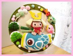 Japanese Design, Japanese Art, Child Day, Felt Dolls, Felt Crafts, Origami, 3d Printing, Banner, Activities