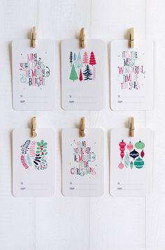 Christmas Cards & Gift Tags by Love Carli on Behance