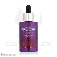Missha Time Revolution Night Repair Science Activator Ampoule is a highly concentrated essential ampoule to help make flawless and sleek skin through promoting skin's original and natural power to improve skin condition every day.  Paraben-free, Colorants free, Fragrance free, Mineral oil free, Alcohol free, Benzophenon free, Doesn't contain any ingredients derived from animals.