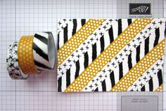 washi border background - cut into strips for use on finished cards.