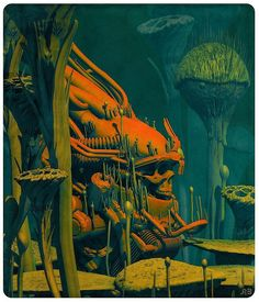 LOST KING ( original edition) #skull #fantasycreatures #fantasy #illustration #pascalblanche by pascalblanche