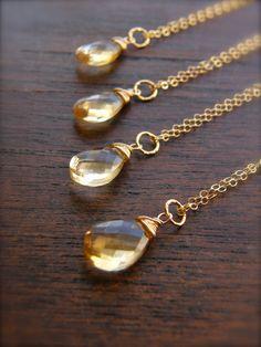 Yellow Citrine Necklaces