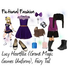 """Lucy Heartfilia (Grand Magic Games Uniform), Fairy Tail"" by fictional-fashion on Polyvore"