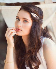Elegant Wedding Hairstyles with Headpieces by Aya Jewellery ...
