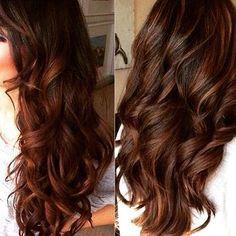 chestnut brown hair with dark caramel streaks - Google Search
