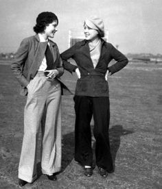 Casual 1930s trouser centered fashions.