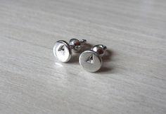 Silver Stud Earrings, Pin Screwback Earrings, Pin Studs, Ready to Ship Earrings, Miniature Post Earrings
