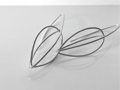 SEED POD silver wire cage earrings organic jewelry by MetalObjects