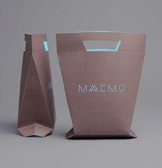Shopping bag. Restaurant Maaemo Branding | Maaemo is an ecological gourmet restaurant in Oslo, Norway.