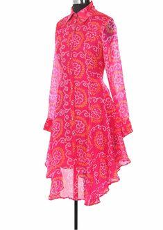 Silk Kurti Designs, Kurta Designs Women, Kurti Designs Party Wear, Indian Fashion Dresses, Indian Designer Outfits, Designer Dresses, Bandhani Dress, Stylish Dresses For Girls, Designs For Dresses
