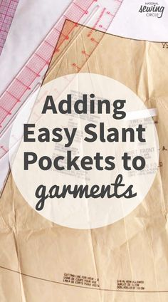 Have you ever come across a pattern that is just about perfect, but is missing the cherry on top? Like the elusive pocket – so many great garment patterns could be 100% perfect with a pocket or two added in.