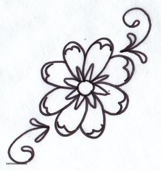 How To Draw A Simple Rose Tattoo Design Youtube