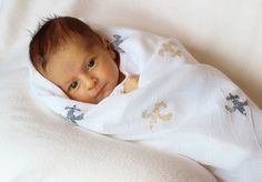 Saints  Baby Blanket  Swaddle Blanket  Cotton  by SimplySwaddleMe