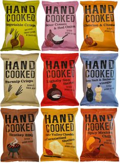 Here's some more cool snack packaging Anastasia. Marks & Spencer Handcooked crisps. Tasty IMPDO.