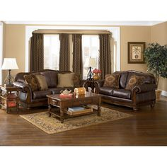 The rich beauty and craftsmanship of Old World designed furniture using deep finishes and exquisite detail will add an elegant atmosphere to the look and feel of any living room decor.