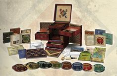 Harry Potter Wizard's Collection that contains all 8 Harry Potter movies, plus more than 37 hours of bonus material. Also included in the package will be a map of Hogwarts, concept art prints, and catalogs of props and posters all designed by the graphic designers from the films. $349 from Amazon.ca or Chapters.ca or $355 at HMV