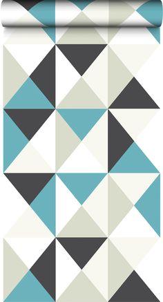 On adore les petits triangles et l'association de ces couleurs