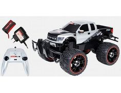 The Carrera RC Ford F-150 SVT Raptor Black & Silver radio controlled off road truck from the Carrera radio control range in 1/16 scale is a great off road vehicle offering lots of outdoor fun!