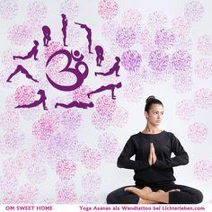 Wirkungsvolle Wandtattoos werden zum Blickfang in jedem Yogaraum : Inspiration für deine Yogaschüler und dioe Yogapraxis wird fliessen mit Leichtigkeit.#lichterleben