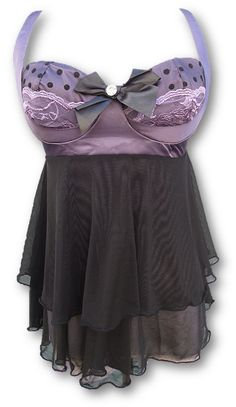 Lilac Attraction by Heavenly Secrets (detachable bow) Soft Purple, Purple And Black, Lilac, Honeymoon Lingerie, Sexy Lingerie, Back Strap, Heavenly, Baby Dolls, Attraction