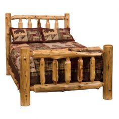 Cedar Log Bed, Cedar Bed, Western Bed, Country Bed, Rustic Bed Plywood Furniture, Log Bedroom Furniture, Lodge Furniture, Rustic Log Furniture, Furniture Design, Western Furniture, Furniture Removal, Scandinavian Furniture, Retro Furniture