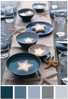 Inspiration for a wedding colour scheme of diesel blue and mercury grey – Colour Crush