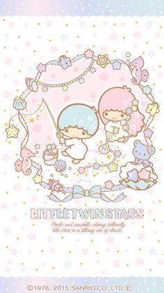 Sanrio Little Twin Stars ❤ Sanrio Wallpaper, Star Wallpaper, Hello Kitty Wallpaper, Kawaii Wallpaper, Cute Wallpaper Backgrounds, Cute Wallpapers, Little Twin Stars, Little Star, Kawaii Art