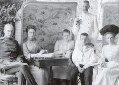 Grand Duchess Elizavetta (Second from left), Grand Duke Sergeii Standing in front of (probable) Grand Duke Dmirtii Pavlovich), Princess Zenaide Yusspov (far right.) (The young girl maybe Grand Duchess Marie Pavlovna).