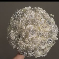 or wedding! Quinceanera FULL PRICE on Diamond Jeweled Crystal Bling Broach Bouquet sweet 16 Cinderella Shoe Princess Brooch Bouquet