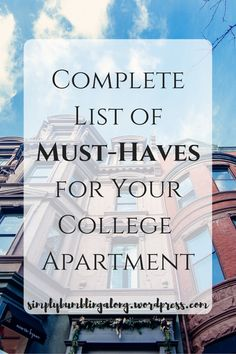 List of things you should have for your first apartment