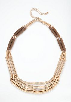 bebe Textured Metal Chain Necklace