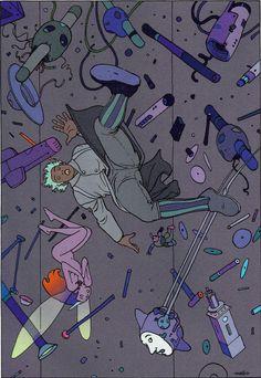 "Moebius - ""Montrouge Mystery"" 2001 Illustration 15 Stardom Editions"