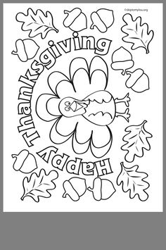 Thanksgiving Coloring Pages, Fall Coloring Pages, Thanksgiving Preschool, Thanksgiving Art, Autumn Activities, Craft Activities For Kids, Preschool Activities, Crafts For Kids, Fall Crafts