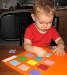 Use paint chips to make this cute file folder matching game!