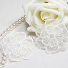 20 pcs/lot, free shipping Hot selling Handmade Sew On Craft Two Layers Embroideried 3D Wedding Flower Applique Patches #Affiliate