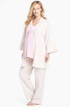 2559f358fd066 For your next pajama day! Olian 4-Piece Maternity Sleepwear Set | Nordstrom  Maternity