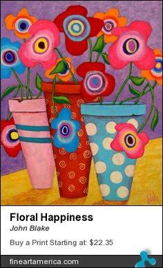 One of my folk art flower paintings...