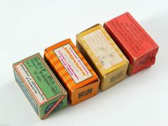 1960s Soviet Russia mixed set of Russian Photo camera Film boxes ISOPANCHROM