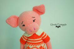 Świnka szydełkowa przytulanka Świnka robiona szydełkiem, crochet pig, amigurumi…