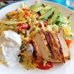 Foto recept: Mexicaanse maaltijdsalade met kip
