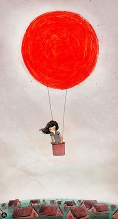 cute #balloon #illustration