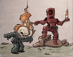 DEADPOOL + GHOST RIDER = MARSHMALLOWS PARTY
